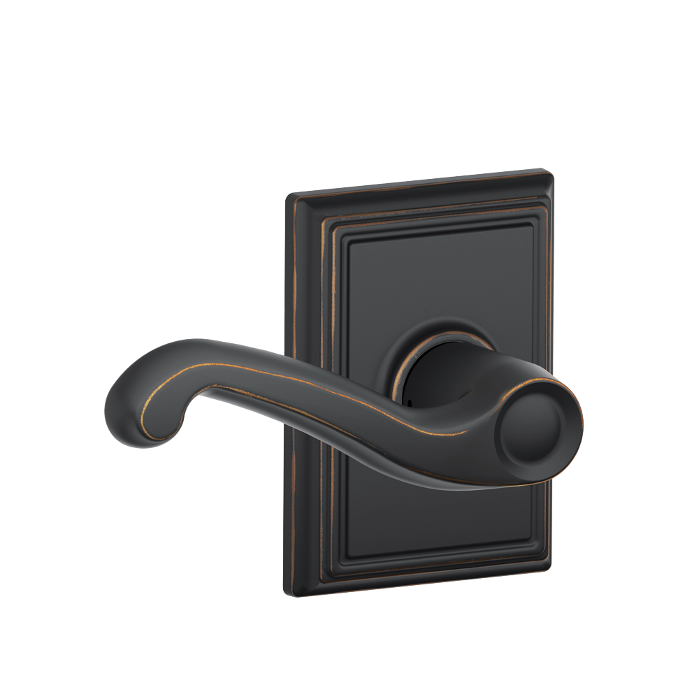 Flair lever with Addison trim in Aged Bronze finish
