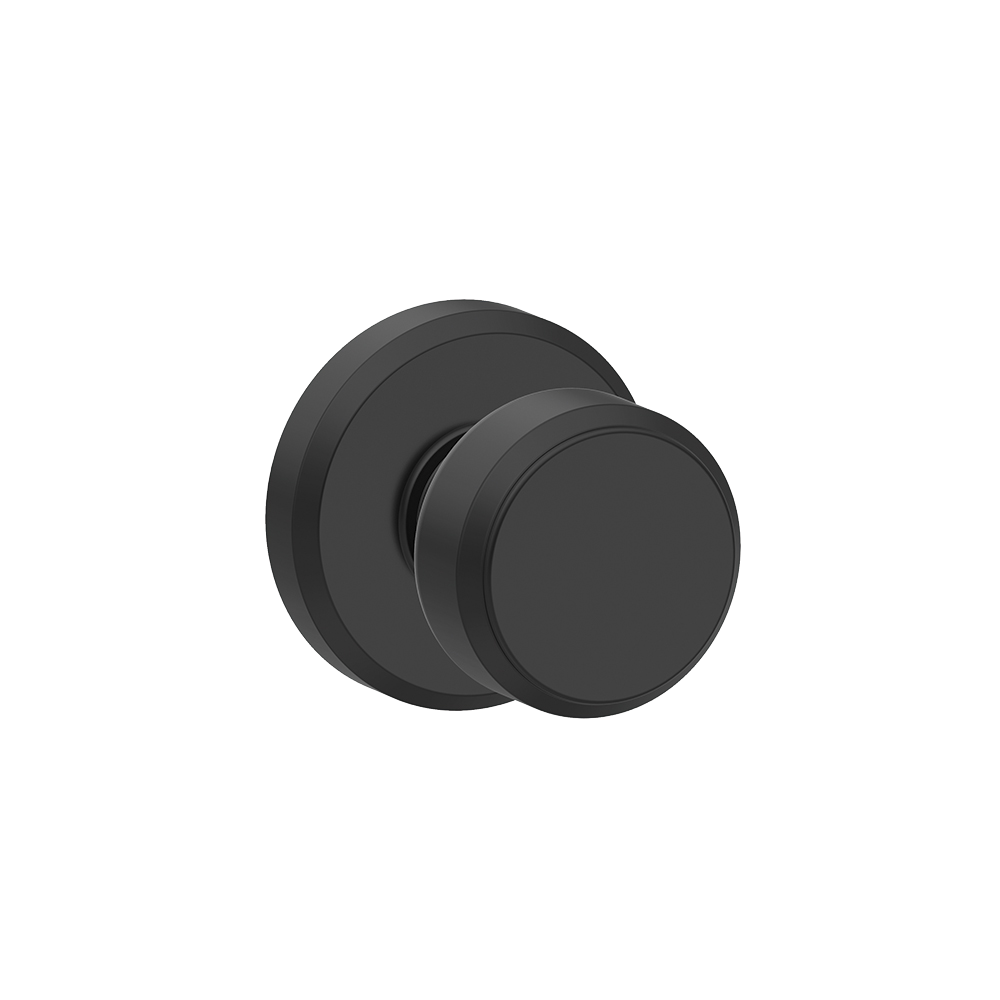 Door knob - Bowery knob - Matte Black finish - Schlage