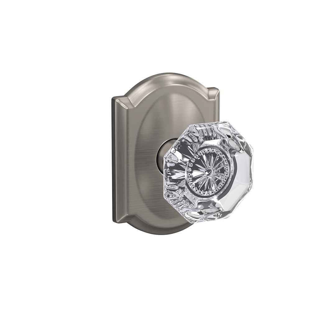 Glass door knob | Alexandria knob with Camelot trim | Schlage