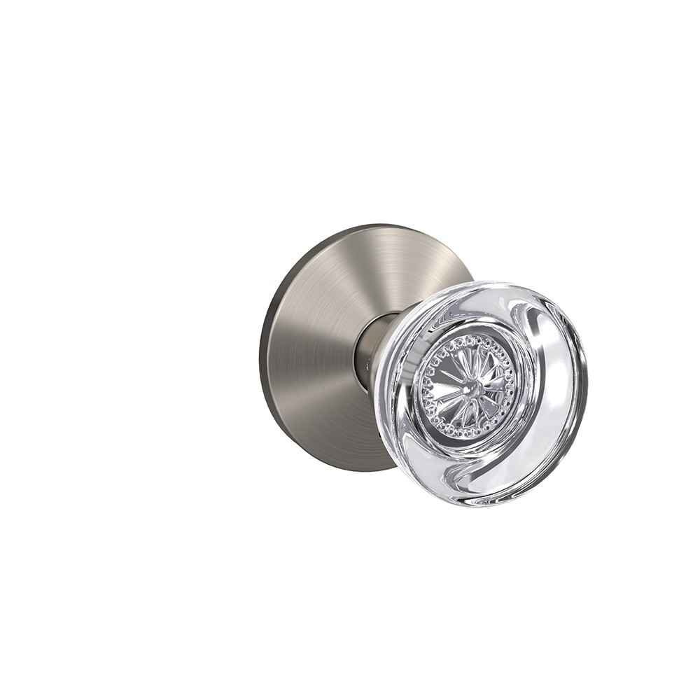 Glass door knob - Hobson knob with Kinsler trim - Schlage