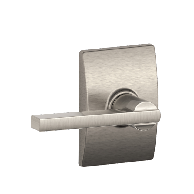 Laude Lever With Century Trim In Satin Nickel