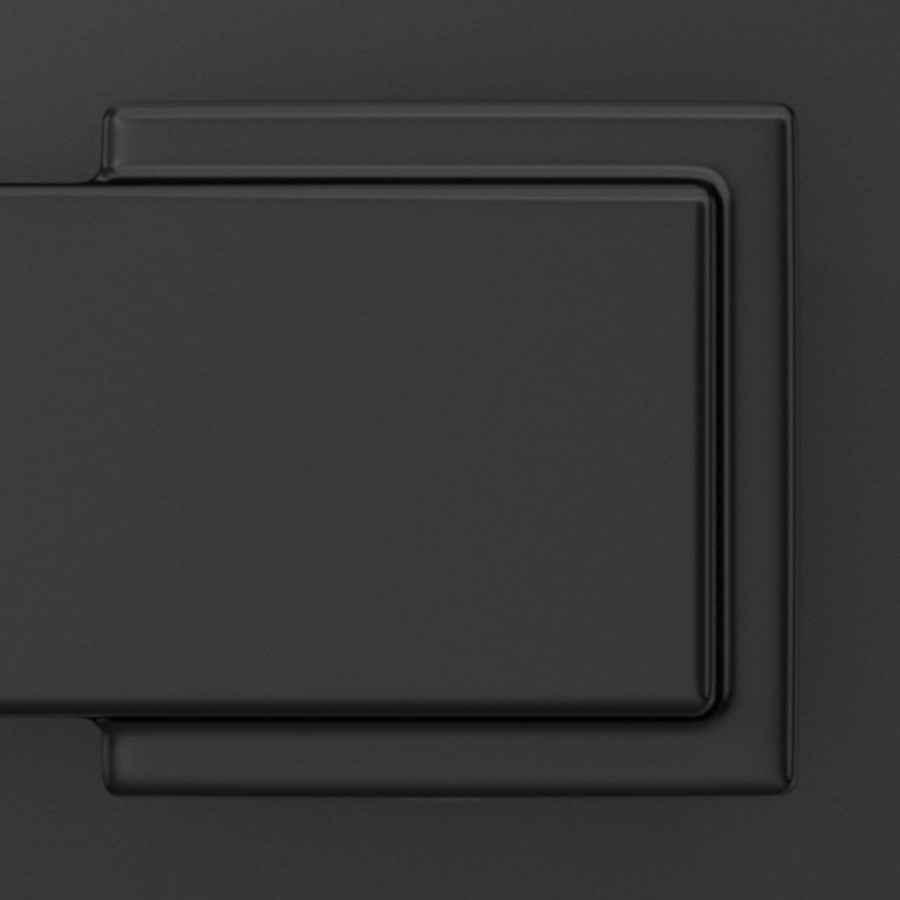 Basics Victorial Door Lever With Lock Matte Black Entry