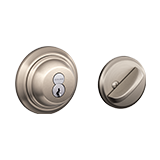 Interchangeable core deadbolt